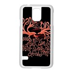 Panic At The Disco   Lying Is The Most Fun A Girl Have Without Taking Her Clothes Samsung Galaxy S5 Case (White)