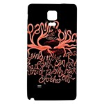 Panic At The Disco   Lying Is The Most Fun A Girl Have Without Taking Her Clothes Galaxy Note 4 Back Case