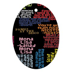Panic At The Disco Northern Downpour Lyrics Metrolyrics Ornament (oval)  by Onesevenart