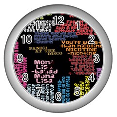 Panic At The Disco Northern Downpour Lyrics Metrolyrics Wall Clocks (silver)  by Onesevenart