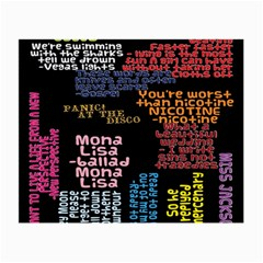 Panic At The Disco Northern Downpour Lyrics Metrolyrics Small Glasses Cloth by Onesevenart