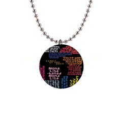 Panic At The Disco Northern Downpour Lyrics Metrolyrics Button Necklaces by Onesevenart