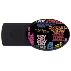 Panic At The Disco Northern Downpour Lyrics Metrolyrics Usb Flash Drive Oval (4 Gb)  by Onesevenart