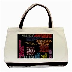 Panic At The Disco Northern Downpour Lyrics Metrolyrics Basic Tote Bag by Onesevenart