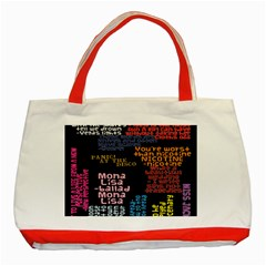 Panic At The Disco Northern Downpour Lyrics Metrolyrics Classic Tote Bag (red) by Onesevenart
