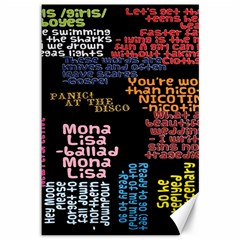 Panic At The Disco Northern Downpour Lyrics Metrolyrics Canvas 12  X 18   by Onesevenart