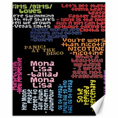 Panic At The Disco Northern Downpour Lyrics Metrolyrics Canvas 16  X 20   by Onesevenart