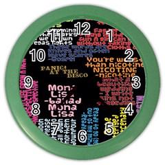 Panic At The Disco Northern Downpour Lyrics Metrolyrics Color Wall Clocks by Onesevenart