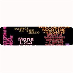 Panic At The Disco Northern Downpour Lyrics Metrolyrics Large Bar Mats by Onesevenart