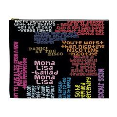 Panic At The Disco Northern Downpour Lyrics Metrolyrics Cosmetic Bag (xl) by Onesevenart