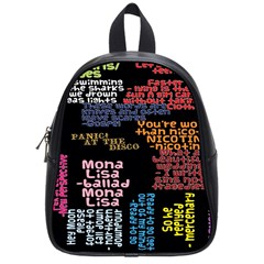 Panic At The Disco Northern Downpour Lyrics Metrolyrics School Bags (small)  by Onesevenart