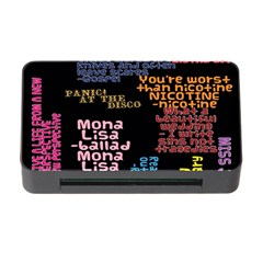 Panic At The Disco Northern Downpour Lyrics Metrolyrics Memory Card Reader With Cf by Onesevenart