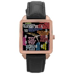 Panic At The Disco Northern Downpour Lyrics Metrolyrics Rose Gold Leather Watch  by Onesevenart