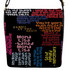Panic At The Disco Northern Downpour Lyrics Metrolyrics Flap Messenger Bag (s) by Onesevenart
