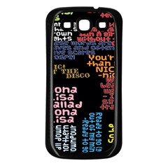 Panic At The Disco Northern Downpour Lyrics Metrolyrics Samsung Galaxy S3 Back Case (black) by Onesevenart