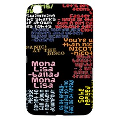 Panic At The Disco Northern Downpour Lyrics Metrolyrics Samsung Galaxy Tab 3 (8 ) T3100 Hardshell Case  by Onesevenart