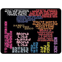 Panic At The Disco Northern Downpour Lyrics Metrolyrics Double Sided Fleece Blanket (large)  by Onesevenart