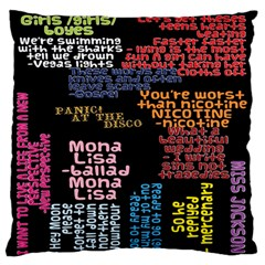 Panic At The Disco Northern Downpour Lyrics Metrolyrics Standard Flano Cushion Case (two Sides) by Onesevenart
