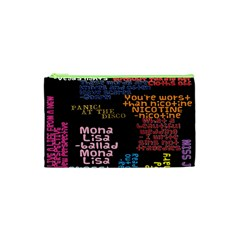 Panic At The Disco Northern Downpour Lyrics Metrolyrics Cosmetic Bag (xs) by Onesevenart
