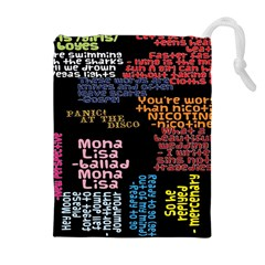 Panic At The Disco Northern Downpour Lyrics Metrolyrics Drawstring Pouches (extra Large) by Onesevenart