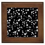 Black And White Starry Pattern Framed Tiles