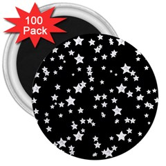 Black And White Starry Pattern 3  Magnets (100 Pack) by DanaeStudio