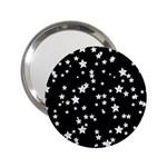 Black And White Starry Pattern 2.25  Handbag Mirrors