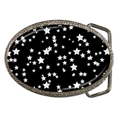 Black And White Starry Pattern Belt Buckles by DanaeStudio
