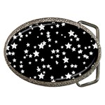 Black And White Starry Pattern Belt Buckles
