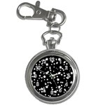 Black And White Starry Pattern Key Chain Watches