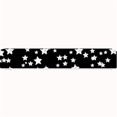 Black And White Starry Pattern Small Bar Mats by DanaeStudio