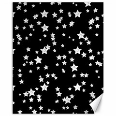 Black And White Starry Pattern Canvas 11  X 14   by DanaeStudio