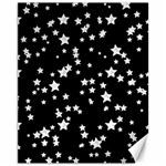 Black And White Starry Pattern Canvas 11  x 14