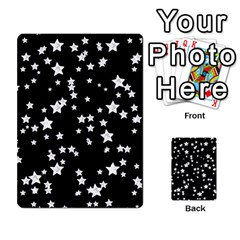 Black And White Starry Pattern Multi Purpose Cards (rectangle)  by DanaeStudio