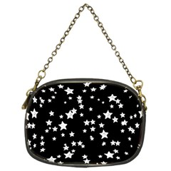 Black And White Starry Pattern Chain Purses (two Sides)  by DanaeStudio