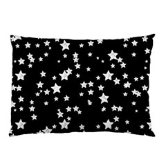 Black And White Starry Pattern Pillow Case by DanaeStudio