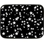 Black And White Starry Pattern Fleece Blanket (Mini)