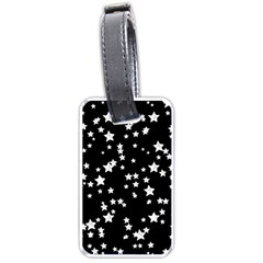 Black And White Starry Pattern Luggage Tags (one Side)  by DanaeStudio