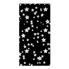 Black And White Starry Pattern Shower Curtain 36  X 72  (stall)  by DanaeStudio