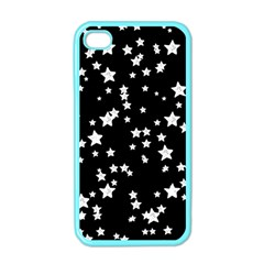 Black And White Starry Pattern Apple Iphone 4 Case (color) by DanaeStudio