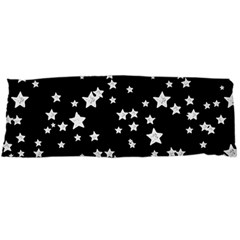 Black And White Starry Pattern Body Pillow Case Dakimakura (two Sides) by DanaeStudio