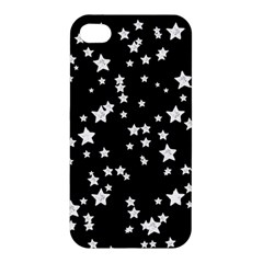 Black And White Starry Pattern Apple Iphone 4/4s Premium Hardshell Case by DanaeStudio