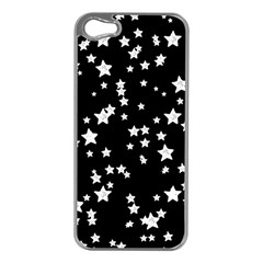 Black And White Starry Pattern Apple Iphone 5 Case (silver) by DanaeStudio