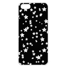 Black And White Starry Pattern Apple Iphone 5 Seamless Case (white) by DanaeStudio