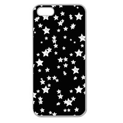 Black And White Starry Pattern Apple Seamless Iphone 5 Case (clear) by DanaeStudio