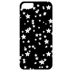 Black And White Starry Pattern Apple Iphone 5 Classic Hardshell Case by DanaeStudio