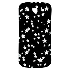 Black And White Starry Pattern Samsung Galaxy S3 S Iii Classic Hardshell Back Case by DanaeStudio