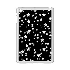 Black And White Starry Pattern Ipad Mini 2 Enamel Coated Cases by DanaeStudio