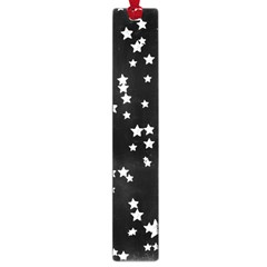 Black And White Starry Pattern Large Book Marks by DanaeStudio