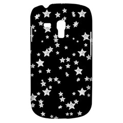 Black And White Starry Pattern Samsung Galaxy S3 Mini I8190 Hardshell Case by DanaeStudio